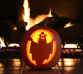 pumpkin by fire